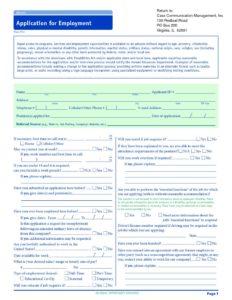 employment application fillable test casscomm